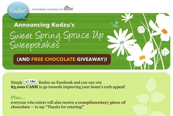 Kudzu Spring Promo Email