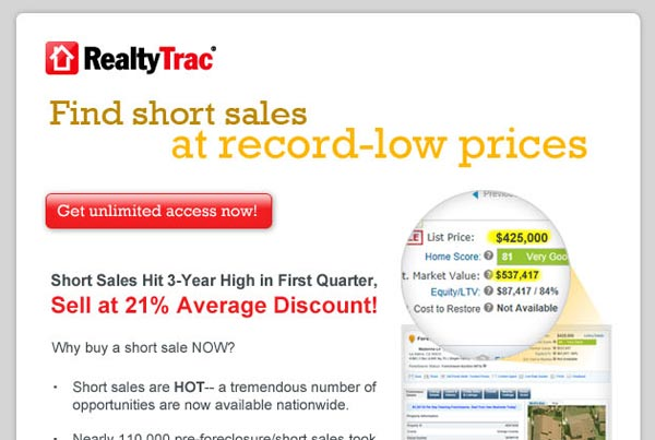 RealtyTrac Email