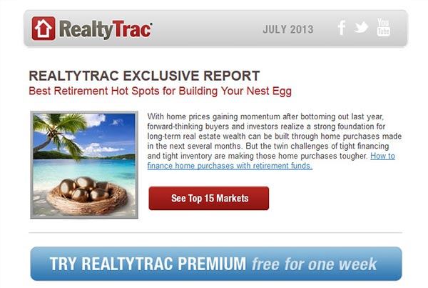 RealtyTrac Newsletter